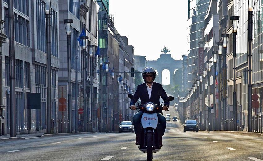 Bruxelles en scooter partagé
