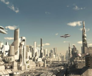 Flying CarsThe take-off of the flying cars