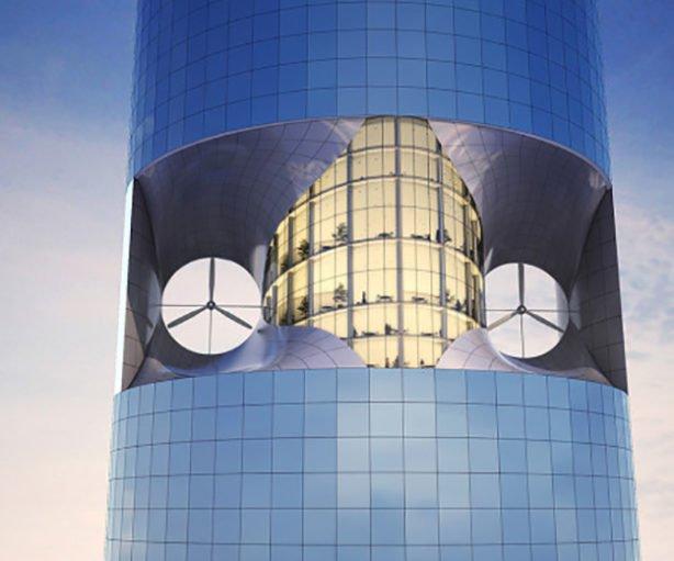 Des éoliennes urbaines intégrées aux bâtiments