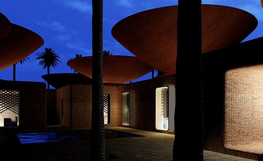 Des toits en forme d'entonnoir pour rafraîchir les bâtiments