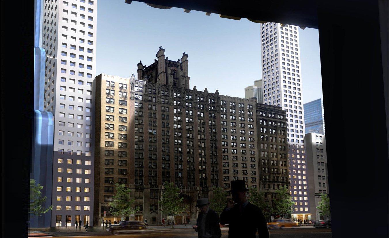 Un futur gratte-ciel de Manhattan en forme de U