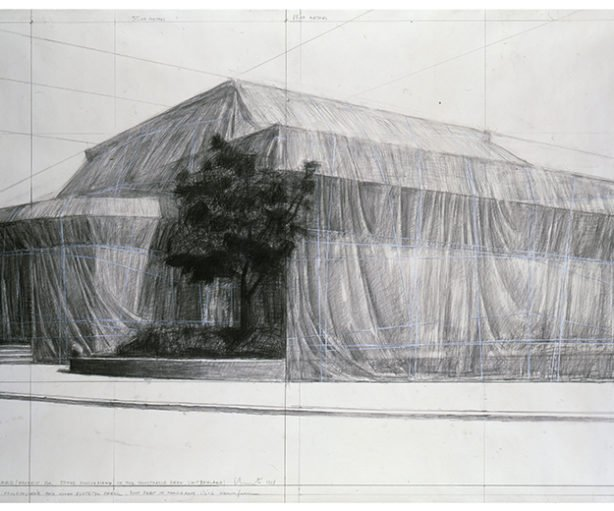Kunsthalle Bern Packed, Project for 50th Anniversary of the Kunsthalle Bern, Switzerland © Christo 1968