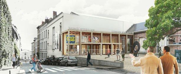 Musee d'Ixelles - Facade © B-architecten