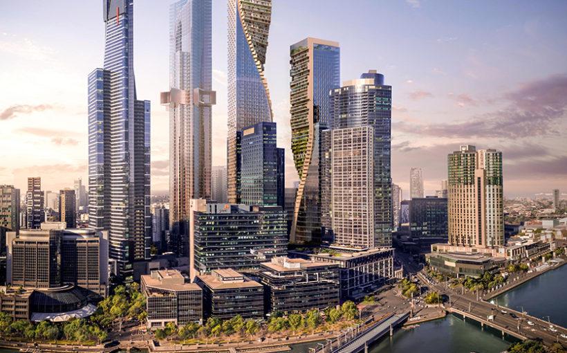 Appartement Renovatie Melbourne : Melbourne zal de grootste gedraaide toren in glas hebben