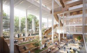 Solvay HQ Lobby © Schmidt Hammer Lassen Architects